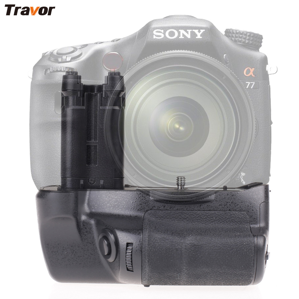 Travor Camera Battery Grip Holder For Sony STL-A77 A77V A77ii A99ii Replace VG-C77AM Work With NP-FM500H Battery