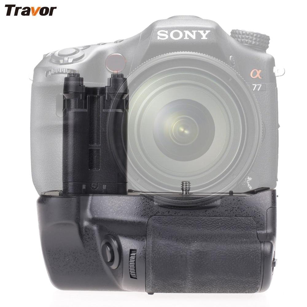 Travor kamera batteri grepphållare för Sony STL-A77 A77V A77ii A99ii Ersätt VG-C77AM arbete med NP-FM500H batteri