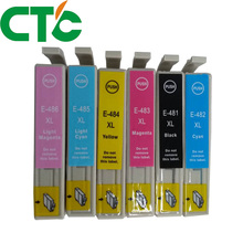 6 Pack T0481 T Compatible Ink Cartridge for INK Stylus Photo R200 R220 R300 R300M R320 R340 RX500 RX600 RX620