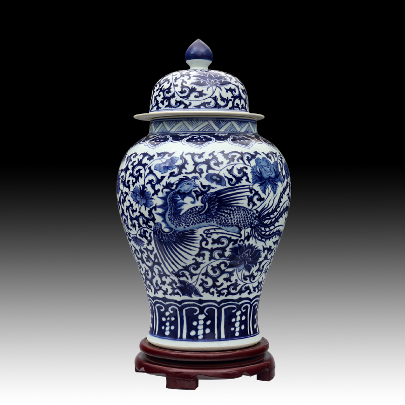 Blue And White Dragon Chinese reproduction ceramic ginger