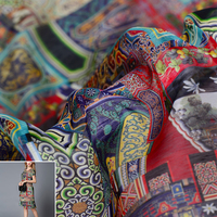 50x140cm/piece Chinese Style Imperial Palace Dragon 100% Real Silk Fabric Cloth For Manual Dress Clothing DIY Sewing Patchwork