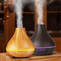 Wood Grain Aromatherapy Oils Diffuser 400ml Ultrasonic Cold Mist Humidifier For Home Office Bedroom Living Room