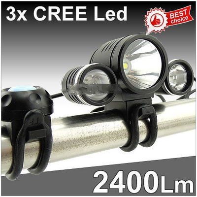 3x CREE 2400Lm XM-L T6 LED 2x XPE R2 LED 8.4v Bike Bicycle Light Rechargeable 6400mAh Battery Charger 950lm 3 mode white bicycle headlamp w cree xm l t6 black silver 2 x 18650
