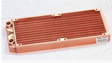 Fast Free Ship 240mm Full Red Copper Water Cooled Row Heat Exchanger Koolance Liquid-cooled Computer Cooling Radiators