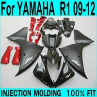 Fairing kit For YAMAHA R1 2009 2010 2011 2012 2013 Fairings ( matte black + Red parts ) yzfr1 Injection Fairings XP62