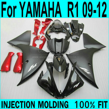 Fairing kit For YAMAHA  R1 2009 2010 2011 2012 2013 Fairings ( matte black + Red parts ) yzfr1 Injection Fairings XP62