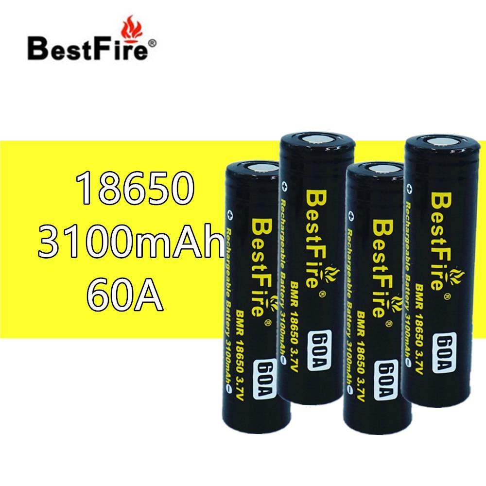 4pcs Bestfire 18650 Rechargeable Battery 3 7V Li ion 3100mAh 60A for Vape Box Mech Mod