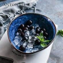 Голубая керамическая посуда antowall миска в форме яйца европейская