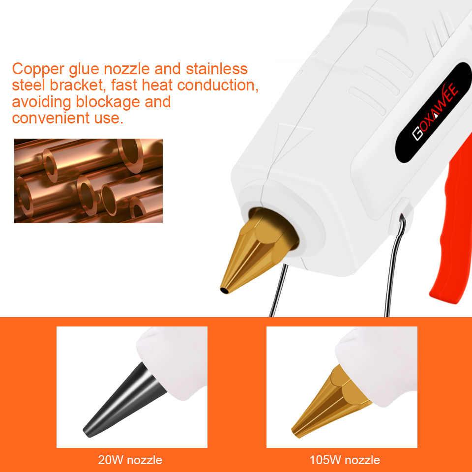 GOXAWEE 34pcs Hot Melt Glue Gun Mini Professional High Temp Graft Repair Electric Heat Gun Thermo DIY Tools With Glue Sticks