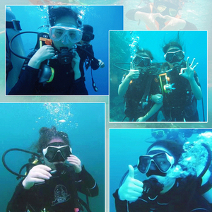 Image 5 - ססגוניות צלילה מסכת צלילה שנורקל שחייה Googgles מזג משקפיים לgopro גיבור 7 6 5 4 3 Xiaomi יי 4K SJCAM EKEN H9
