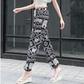 Хлопок женщин широкую ногу брюки palazzo шаровары женщин pantalon femme sexy повседневные брюки sarouel pantalones mujer femme 2016