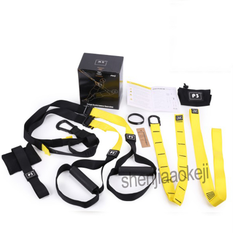 Resistance Bands Hanging Belt Sport Gym Workout Fitness Suspension Exercise Resistance Pull Rope Straps Training  1pc