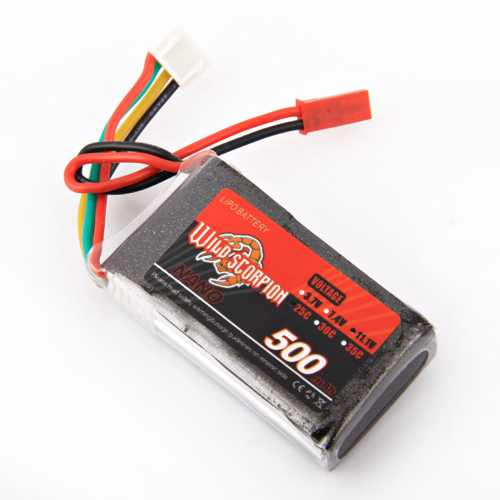 1Pcs Wild Scorpion11.1V 500MAH 25C 3s High Power lipo battery For RC Quadcopter Drone Helicopter Car Airplane стоимость