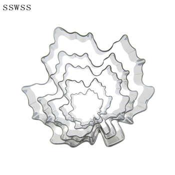 Pięcioczęściowy foremki do ciastek z liści klonu foremki do pieczenia, jesienne liście lukier dekoracyjny do ciasta, sprzedaż bezpośrednia