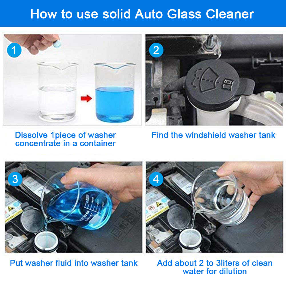 Auto window glasses Car Accessories Cleaning Windshield glass Effervescent Tablets tool Solid Wiper Cleaner Compact Detergent c