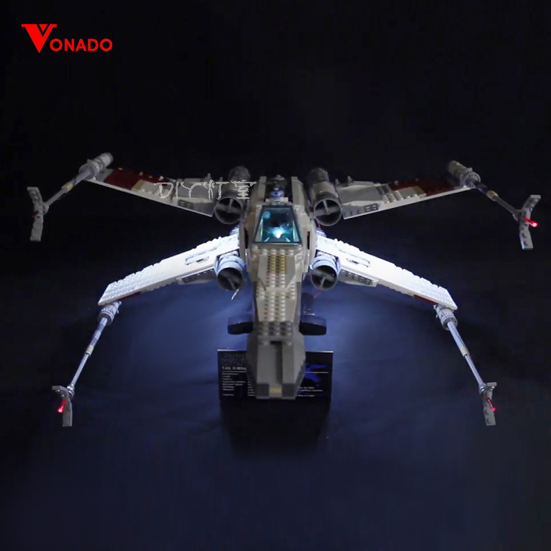 Led Light For Lego 10240 X Wing Red Five Star War fighter Compatible 05039 Building Blocks Bricks Toys (only light+Battery box) led light for lego 10235 christmas winter village market compatible 36010 building blocks bricks toys only light battery box