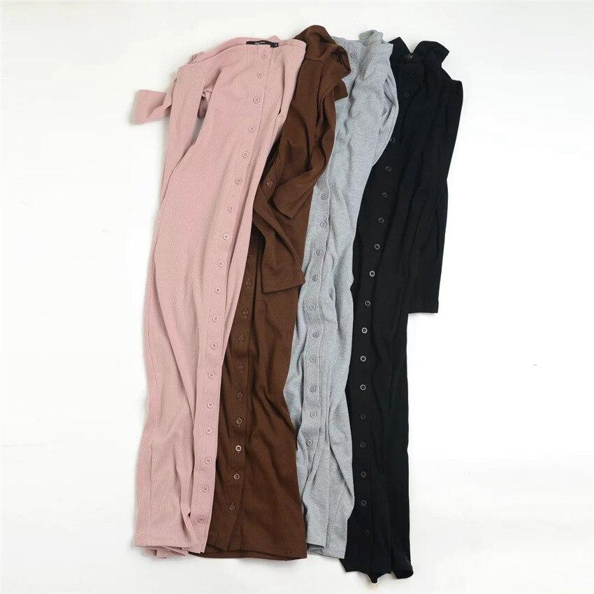 2016 Autumn Bodycon Dress Elastic Knitted Dresses Long Sleeve Long Dresses Slim spring Office Dress Robes Vestidos
