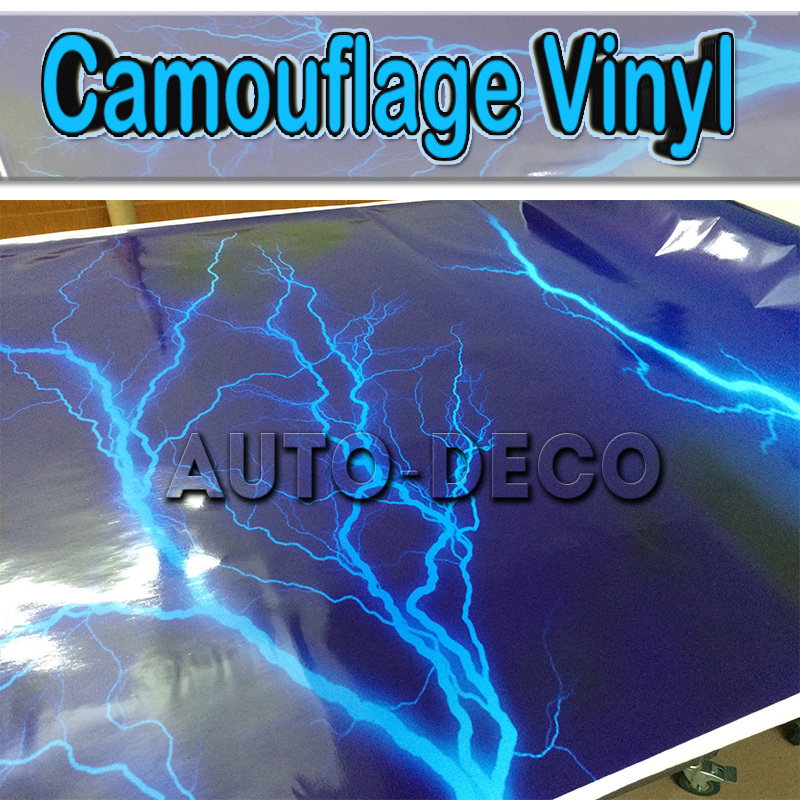 Lightning Vinyl Sticker Bomb Car Wrap Camo Car Vinyl Truck Graphics Car Wrapping Camouflage Film 1.52*30m/roll