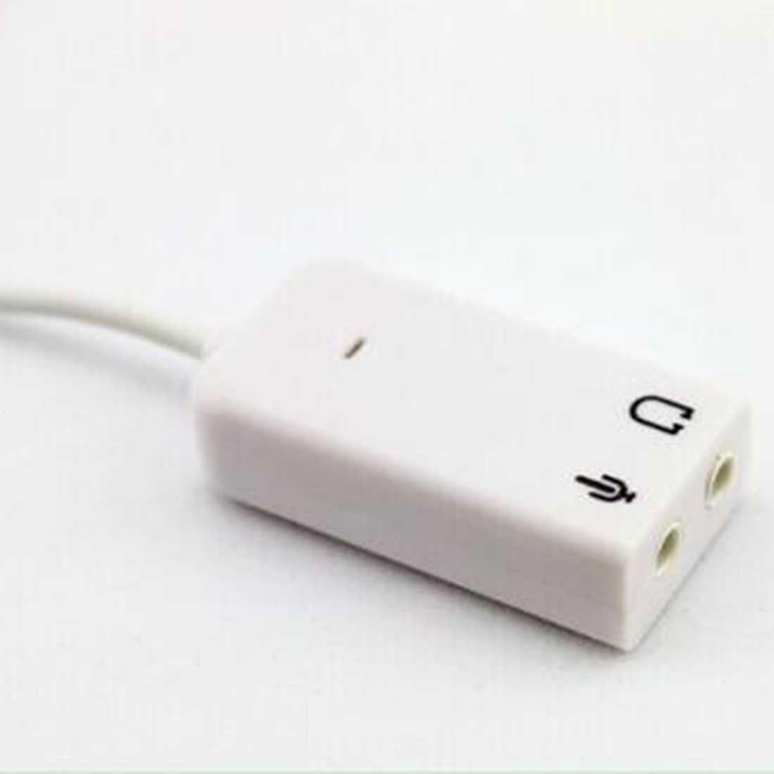 NOYOKERE 3D Белый 2,0 Виртуальный 7,1 канал внешний USB аудио адаптер Звуковая карта Звуковые карты для портативных ПК с кабелем
