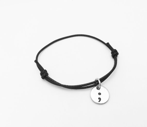 Semicolon Cord Bracelet My...