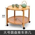 Kreative Beweglichen Kaffee Tisch Doppel mit Roller Tee Tisch Moderne Minimalistischen Lagerung Mobilen Kleine Runde Tisch Dotomy-in Gartentische aus Möbel bei