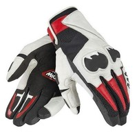 Motorcycle Mig C2 Dain Short Gloves Bike Team Racing Riding Gloves Black/White/Red