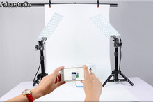 5500K 2X LED Light Lamps / Mini Shooting Table Background Paper Kit Set photogrpahy  for Still Life Product Shooting CD50