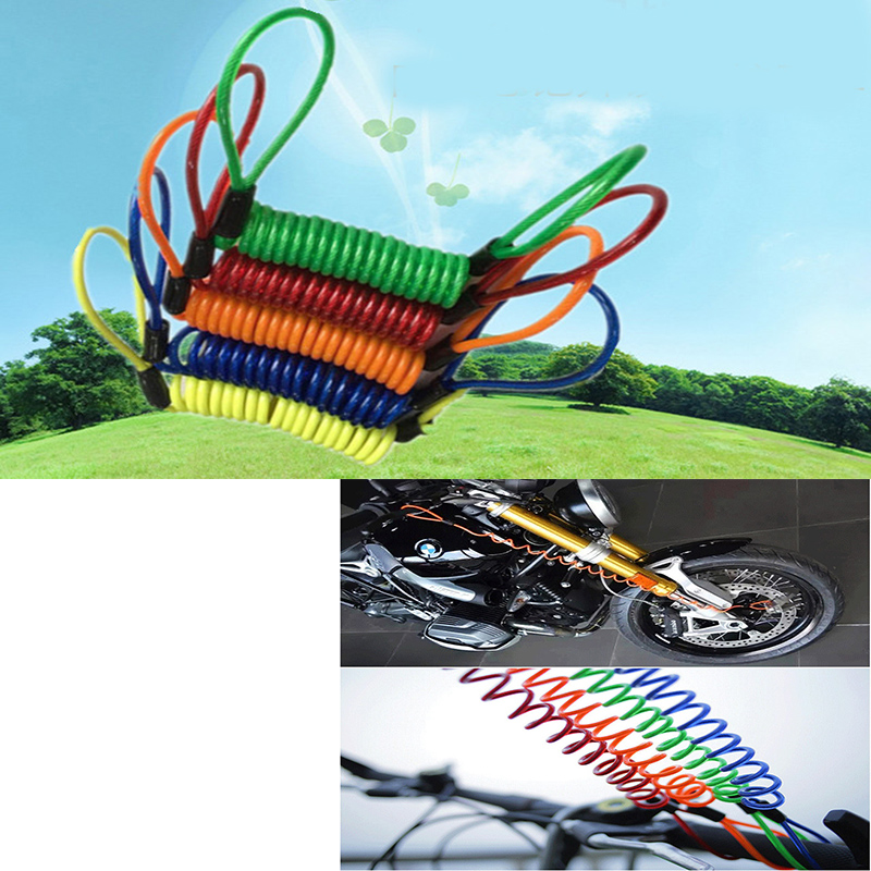 Steel Wire Cable Lock With 2 Keys For Motorbikes Bikes Anti-Theft Security