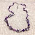 De calidad superior nueva marca de diseño de piedras naturales Collar Largo moda Bohemia Granos Del Encanto de la joyería para el partido Mujeres que envían libremente