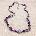 top quality new designer brand natural stones Long Necklace trendy Bohemian Charm Beads jewelry for party Women free shipping