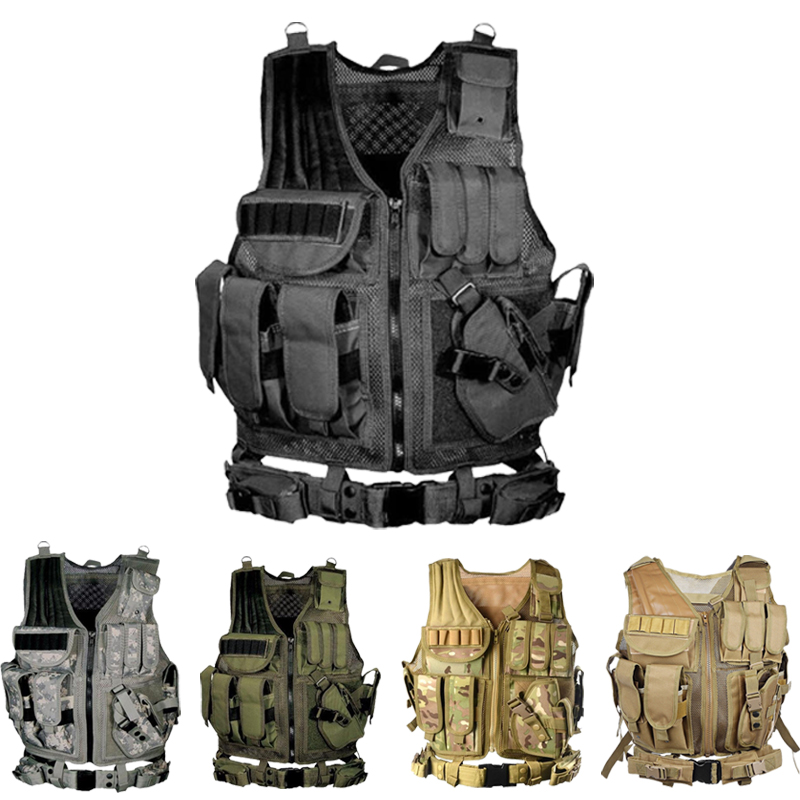 Tactical Vest Multi-pocket SWAT Army CS Hunting Vest Camping Hiking Accessories