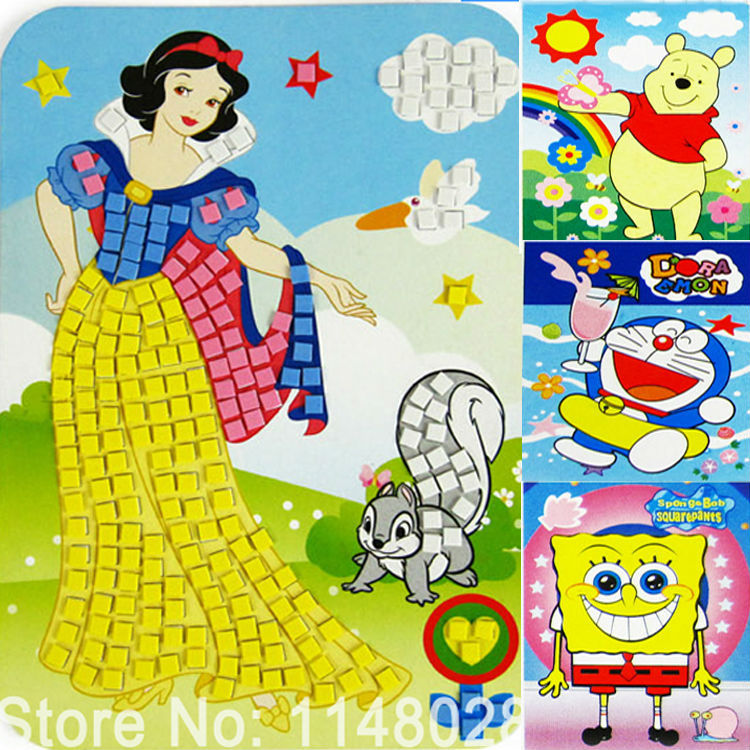 aliexpresscom buy 12pc mosaic puzzle sticker handmade diy coloring notebook eva paint learning educationdigital eva drawing toy children wholesale from - Drawing And Painting For Kids