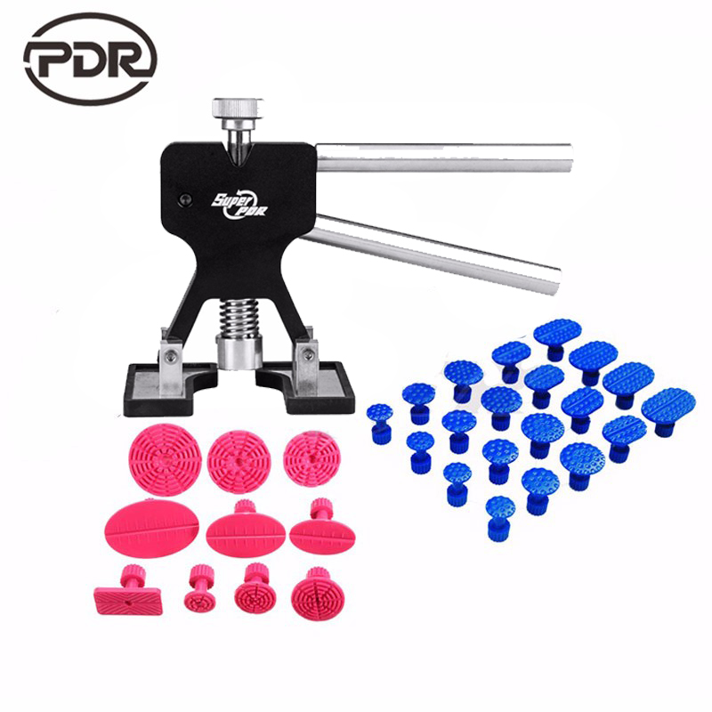 PDR Tools Dent Puller Kit Car Paintless Dent Repair Tools Auto Repair Tool Set Glue Tabs Sucker Suction Cup Hand Tools Set  pdr tools for car kit dent lifter glue tabs suction cup hot melt glue sticks paintless dent repair tools hand tools set