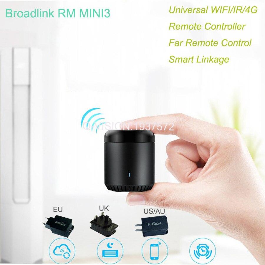 imágenes para Broadlink EU/US/UK RM Mini3, Domótica Inteligente, WiFi + IR + 4G, Inteligente Universal, Inteligente APP Control Inalámbrico De IOS Android