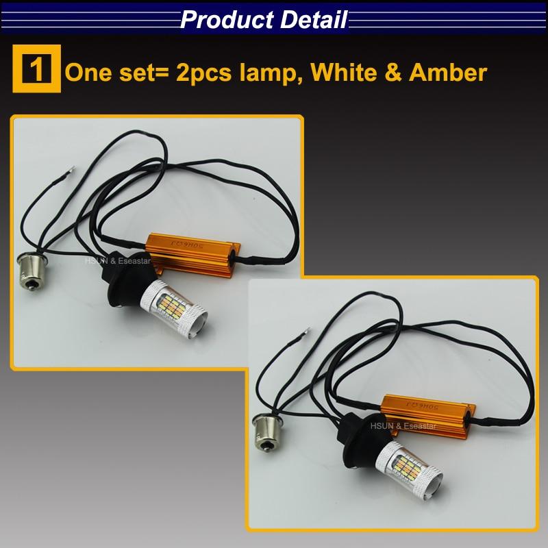 Eseastar 2pcs BA15S 7440 3156 S25 Yüksək Güclü LED Avtomobil - Avtomobil işıqları - Fotoqrafiya 2