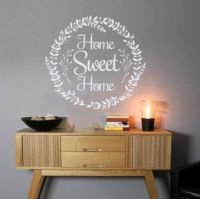 Housewarming Decals Farmhouse Home Sweet Wall Country Sticker Rustic Art Vinilos Decoration NY 423