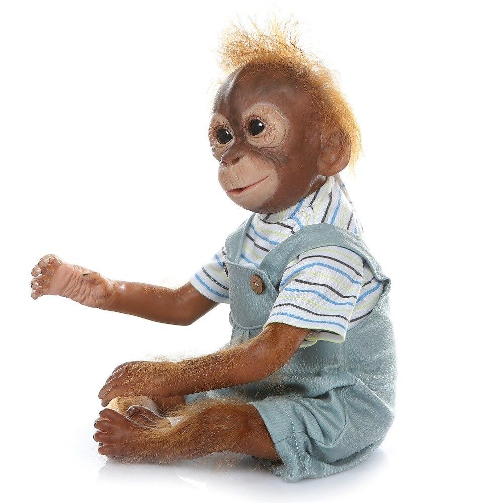 52 cm nouveau singe créatif Silicone bébé poupée 100% Non toxique Reborn bébés réaliste lol poupée pour enfants anniversaire noël bebe cadeau jouet - 4