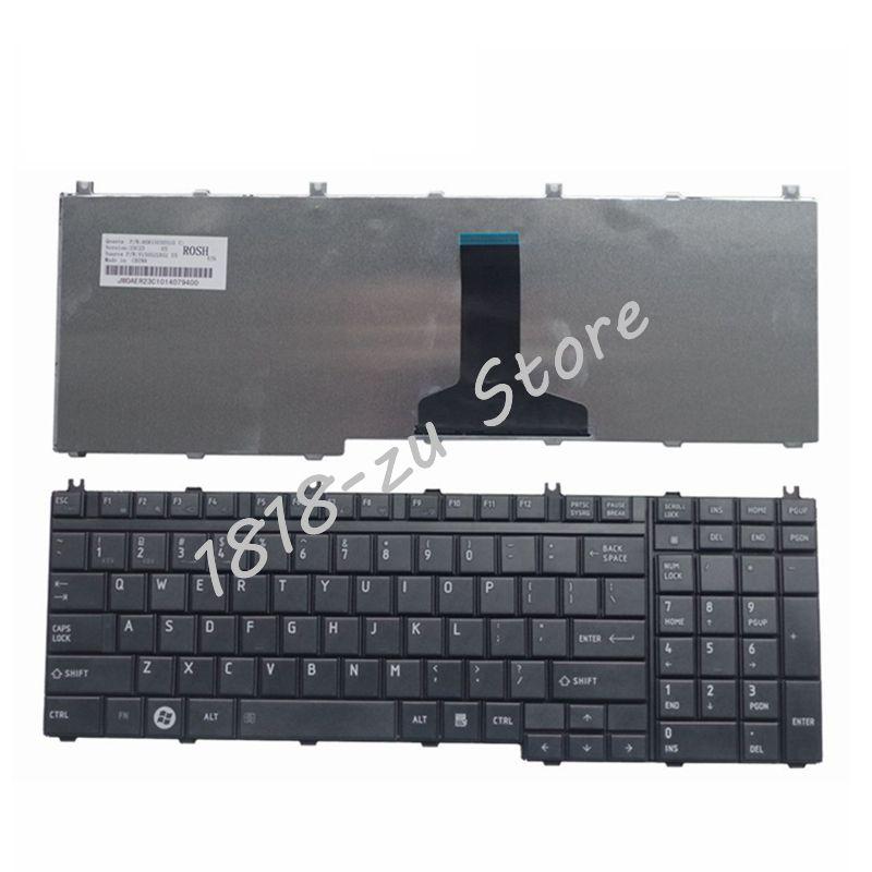 YALUZU Clavier pour Toshiba Satellite L505-13N X505 X500 A500 A505 P200 P300 P505 L350 L500 Ordinateur Portable/Portable QWERTY US anglais