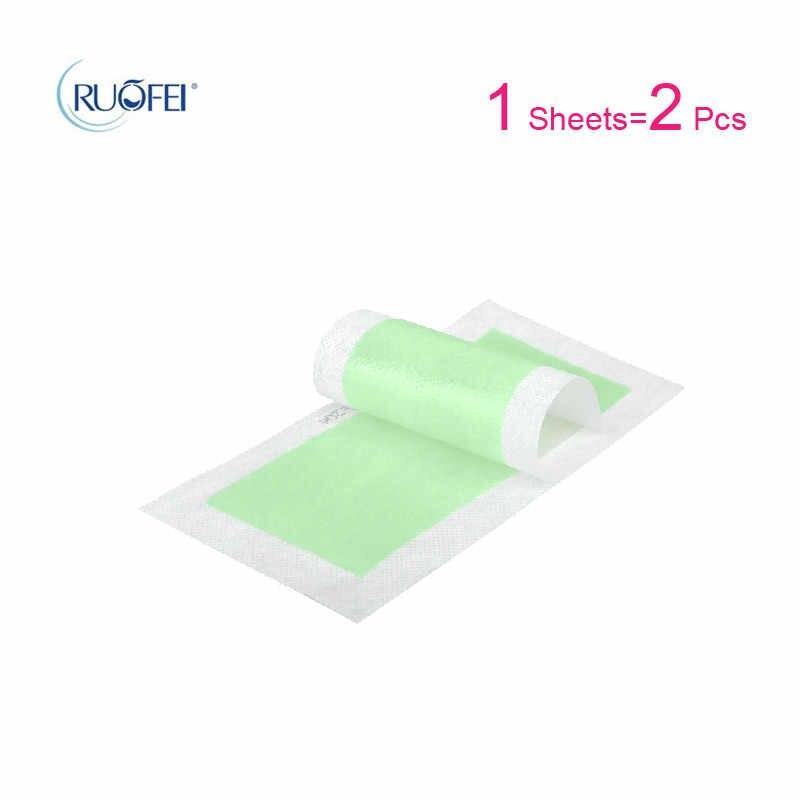 15 yaprak = 30 adet Epilasyon Çift Taraflı Tüy Dökücü Epilatör balmumu şerit Kağıt Pedi Yama Ağda Yüz/Bacaklar vücut/Bikini/Koltukaltı