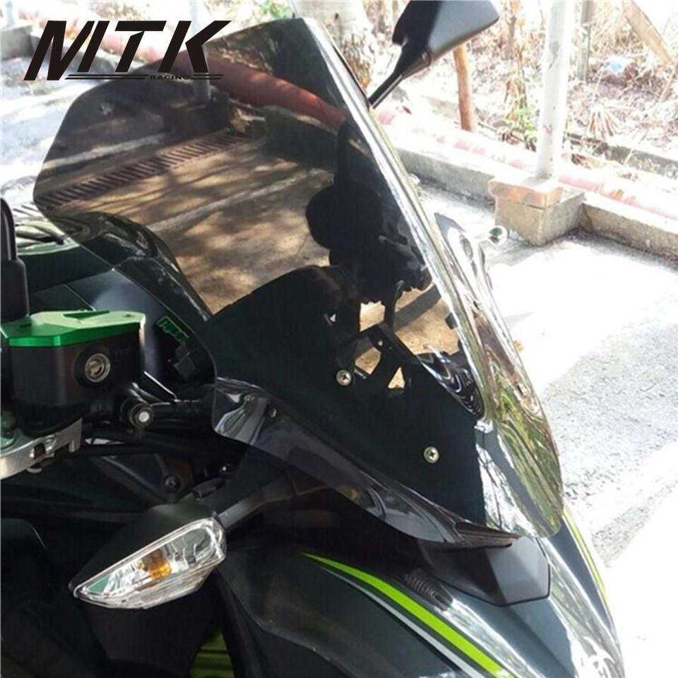 MTKRACING Motorcycle Accessoris Street Bike long Windshield WindScreen For Kawasaki Z900 Z 900 2017-2018