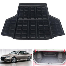 Car Cargo Liner Mat Rear Trunk Luggage Tray Boot Pad Floor Carpet Cover Fit For Honda Accord 10th 2018 Auto Accessories atreus for 2011 2018 bmw x3 f25 accessories car rear boot liner trunk cargo mat tray floor carpet pad protector