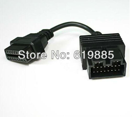 OBD 2 20 Pin Connector To 16 Pin Diagnostic Adapter Interface Cable 20cm Allows Connect KIA Vehicles With 20pin Socket connector