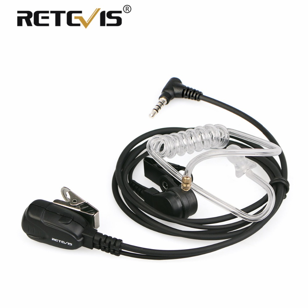 Walkie Talkie Headset PTT Mic Air Acoustic Tube Earpiece 3.5mm 1-Pin For YAESU For VERTEX VX-5R VX-3R Retevis RT40 RB15 RB615