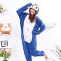 Cosplay Blue Penguin Pajamas Onesie Men Women Costume Adult Pyjamas Party Unisex
