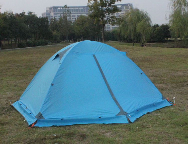 Blue Tent Rear Door Closed