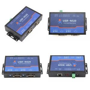 Image 4 - Q18040 USR N520 série ao dispositivo serial dobro rs232 rs485 rs422 do conversor do ip de tcp do servidor dos ethernet