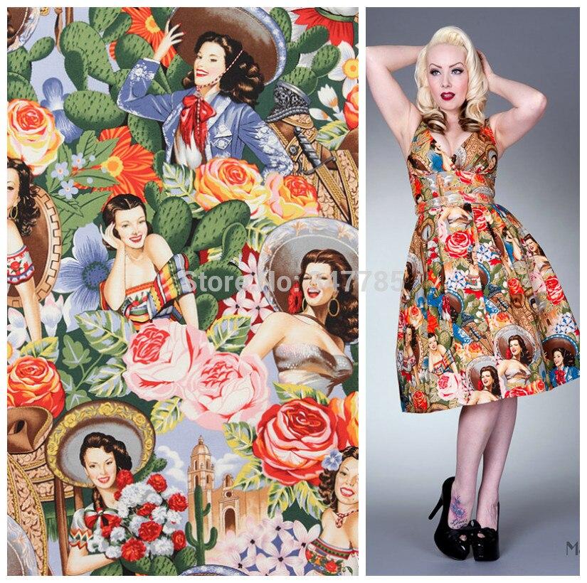 Popular Vintage Floral Dress Fabric-Buy Cheap Vintage Floral Dress ...