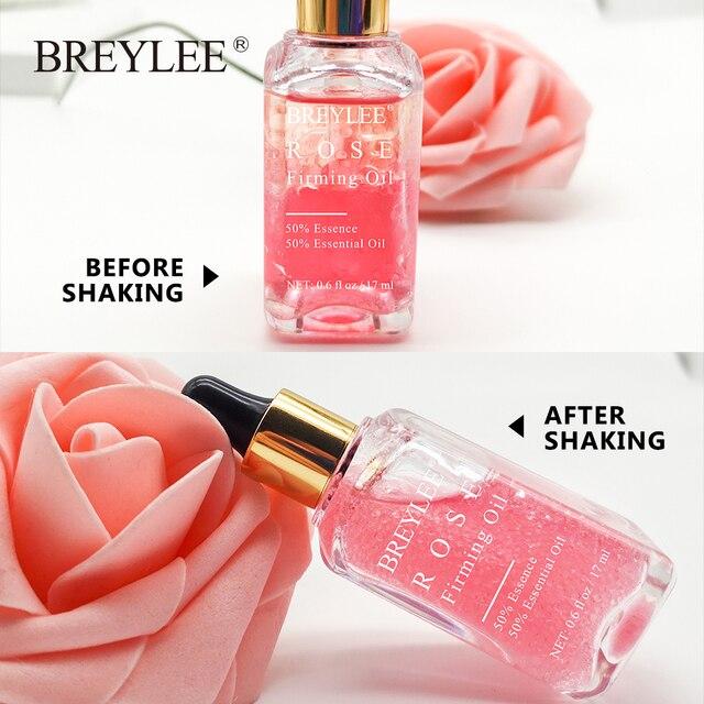 BREYLEE Rose Firming Essential Oils Anti Aging Lifting Facial Serum Moisturizer Essence Face Skin Care Wrinkle