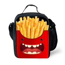 Children lunch bag new fashion cartoon printing thermo food insulated casual travel picnic thermal box for kids