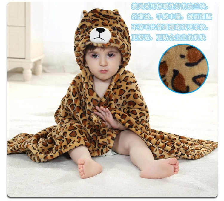 Baby Cartoon Animal Cosplay Photo props Receiving Blanket Flannel ...